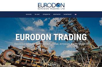 Изработка на уеб сайт за Eurodon Trading Ltd.