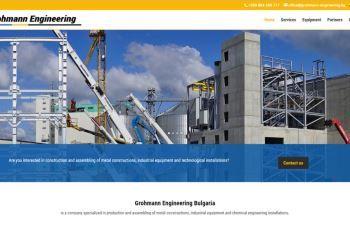 Изработка на уеб сайт за Громан България Инженеринг