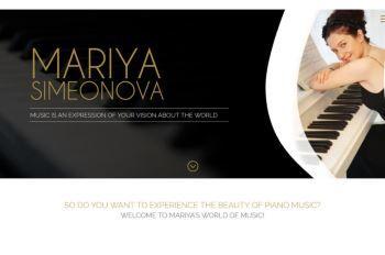Изработка на уеб сайт за Мария Симеонова