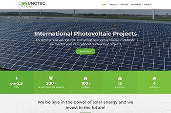 Изработка на сайт за Sunotec Group