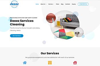 Изработка на уеб сайт за Deeez Services Cleaning