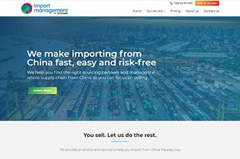 Изработка на сайт за Import Management by MYDOMO