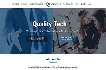 Изработка на уеб сайт Quality.Tech