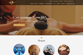 Изработка на сайт за TERRA SPA
