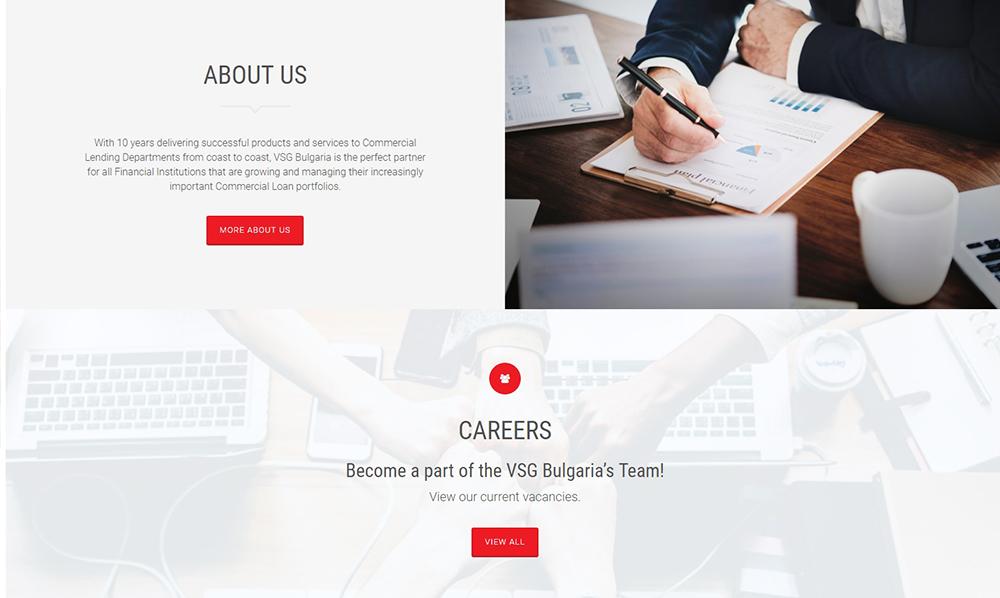 Изработка на уеб сайт за VSG Bulgaria